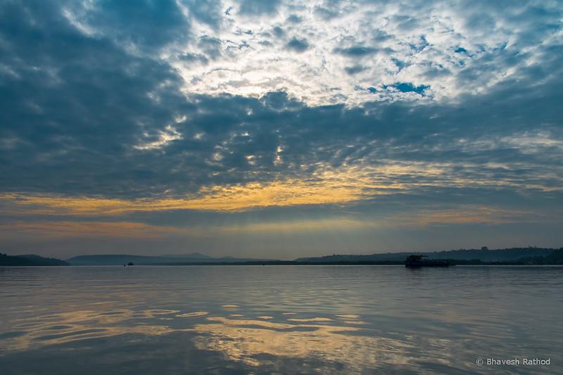Morning view at Zuari River