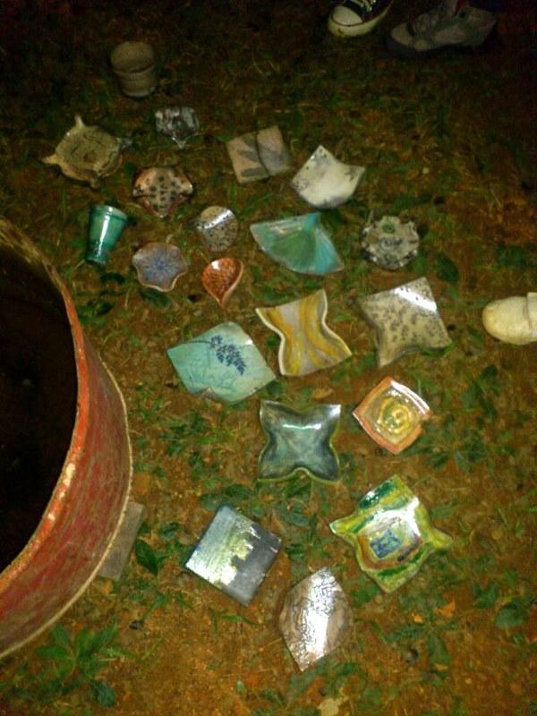 Dia do Ceramista 15 Peças retiradas da água