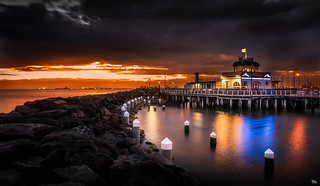Stormy Night at St Kilda Pier