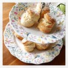 Wonky-looking scones - a sure sign that they are homemade...