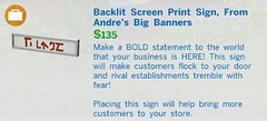 Backlit Screen Print Sign From Andres Big Banners