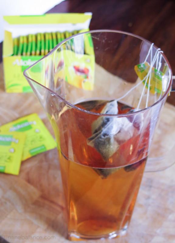 Summer Fruit Tea tea summer sponsored lemon fruit frozen fruit beverage