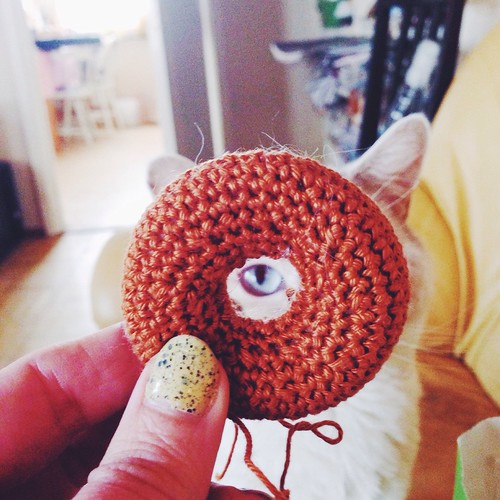 amigurumi donut in progress