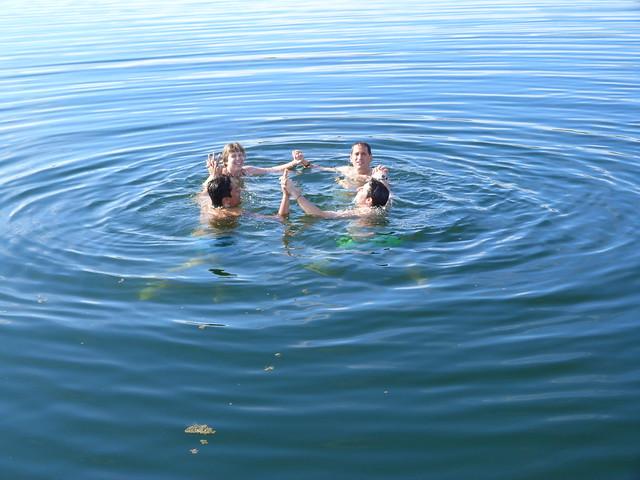 Dándonos un baño en el Lago Alqueva (Alentejo, Portugal)