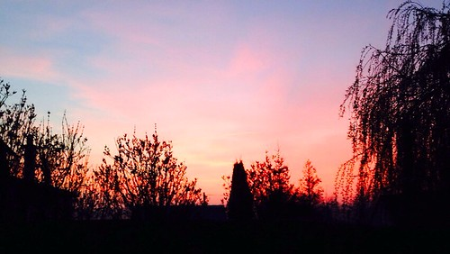 Vindefontaine sunset