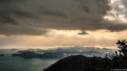 trip travel sunset sea vacation sky mountain nature clouds dawn korea busan