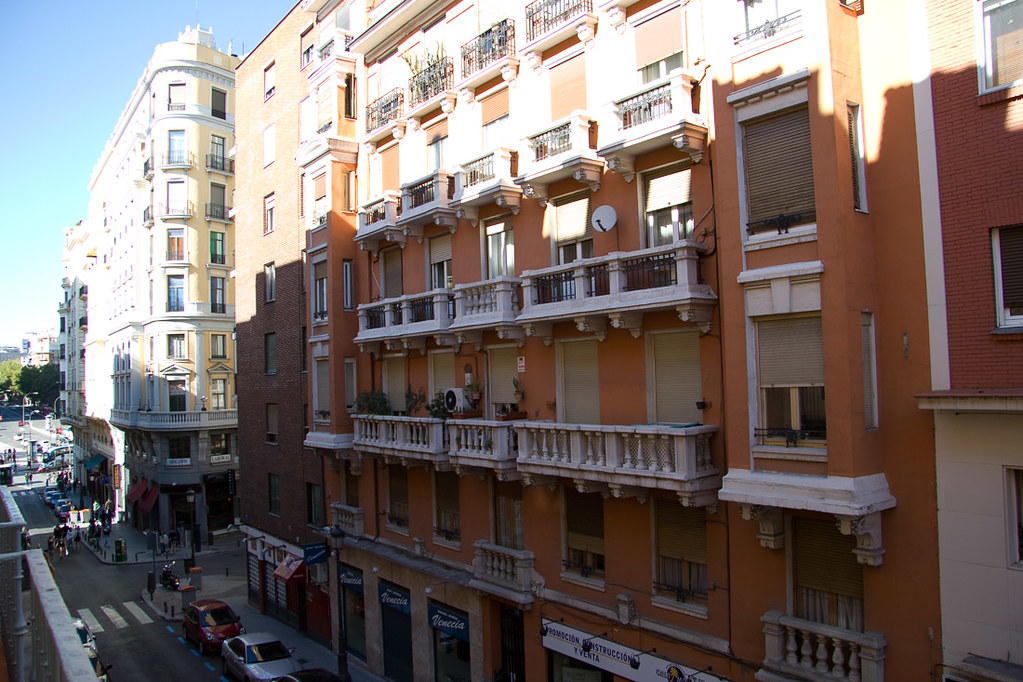 View from hotel balcony in Madrid