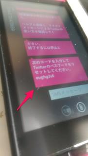 Twitter パスワードリセット SMS