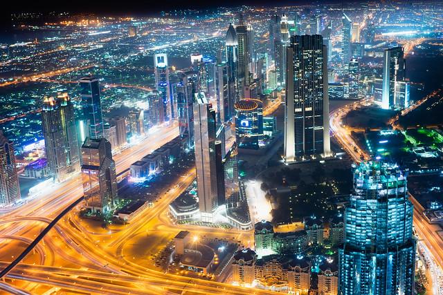 City lights Dubai