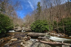 Smaller waterfalls and rapids encountered while exploring Big Wilson Creek in Grayson Highlands, VA