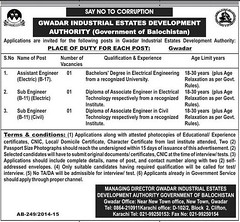 Engineering Jobs In Gwadar Industrial Estates Development - http://thejobs.pk/wp-content/uploads/2015/04/Sub-Engineers-Job-Gwadar.jpg - http://thejobs.pk/engineering-and-technical/engineering-jobs-in-gwadar-industrial-estates-development.html