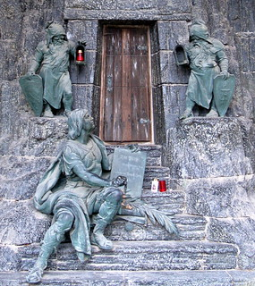 The entrance to the mausoleum of a mine magnate in the Zentralfriedhof (Central Cemetery), Vienna