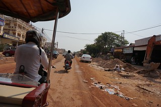 Not all roads are paved in Cambodia