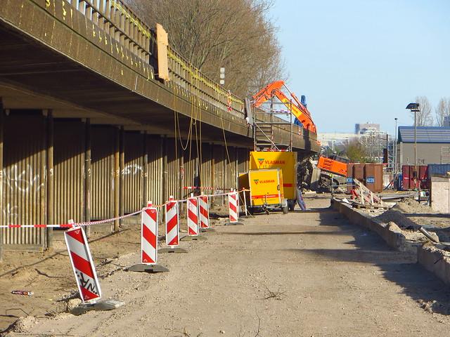 20150421 Delft - afbraak spoorviaduct
