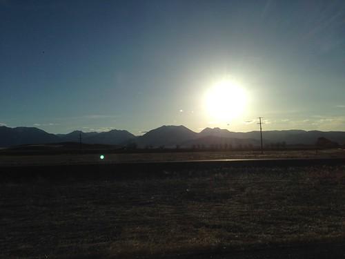 sunset usa oregon america highway driving roadtrip 日落 美國 俄勒冈州