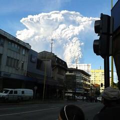 Otra foto de la erupción del Calbuco. Puerto Montt, 22 de abril de 2015