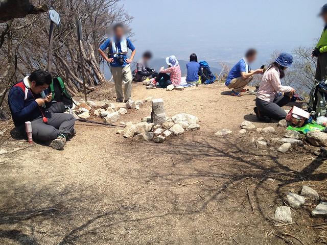 釈迦ヶ岳 山頂小広場