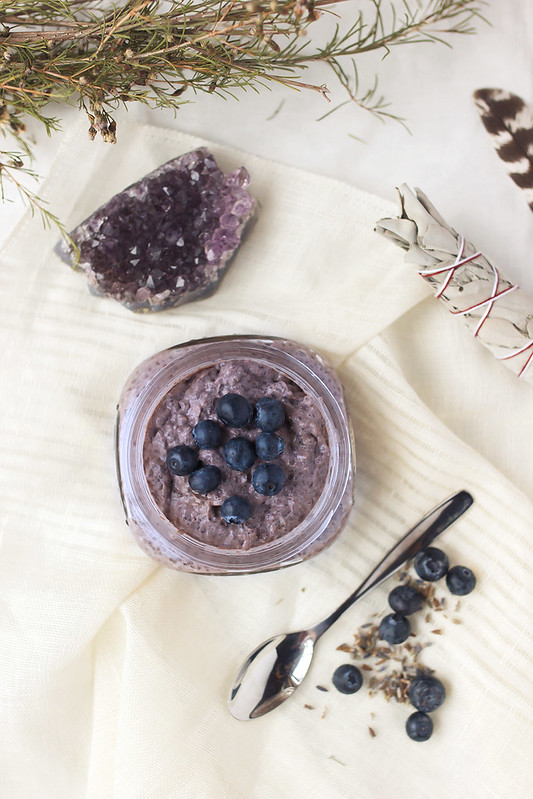 Blueberry Lavender Chia Seed Pudding