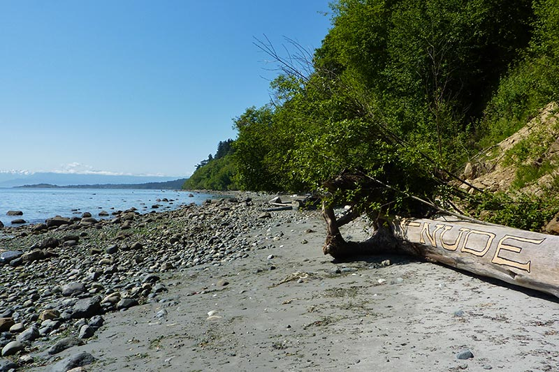 Nude Beach at Witty's Lagoon Park, Metchosin, Victoria, Vancouver Island, British Columbia
