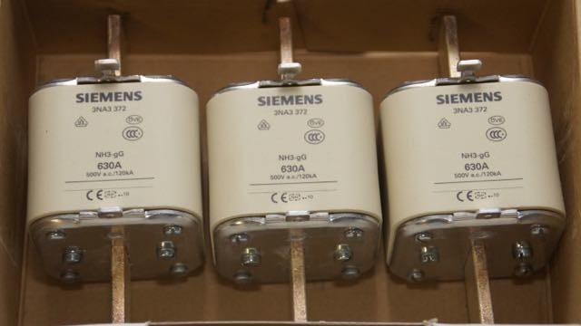 3 Stck Siemens Sicherungssatz 3NA3 372 / Gr. 3 / 500 V gG /