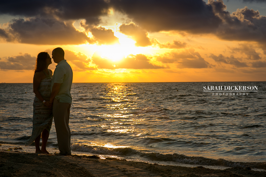 Riviera Maya sunrise beach portrait session
