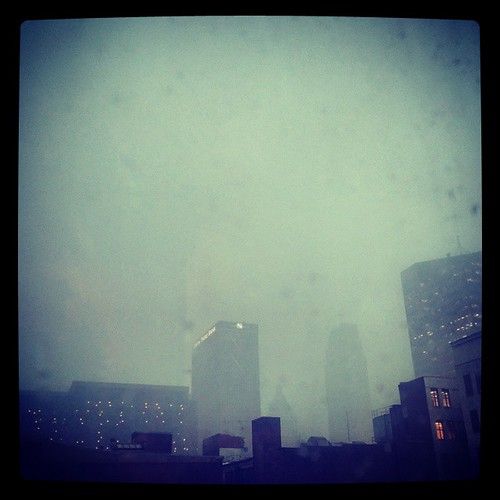 Apparently, it's monsoon season in downtown Cincinnati because... wow, all the rain.