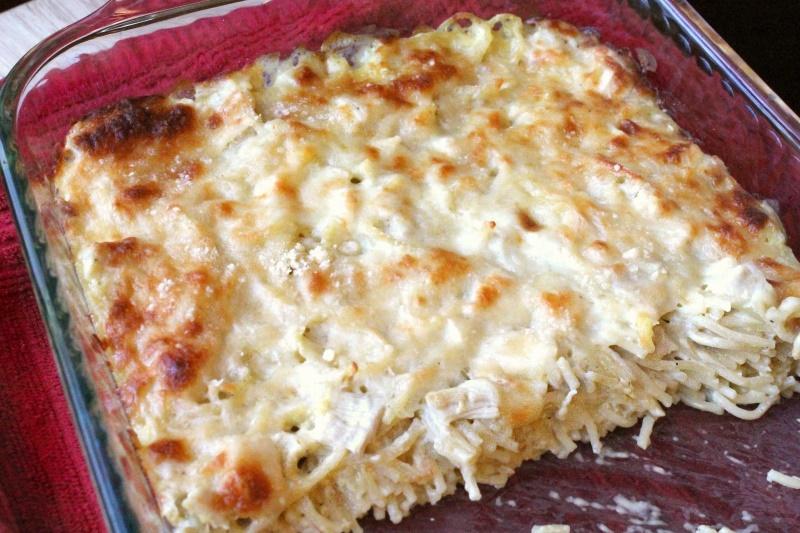 White Spaghetti Bake, 1