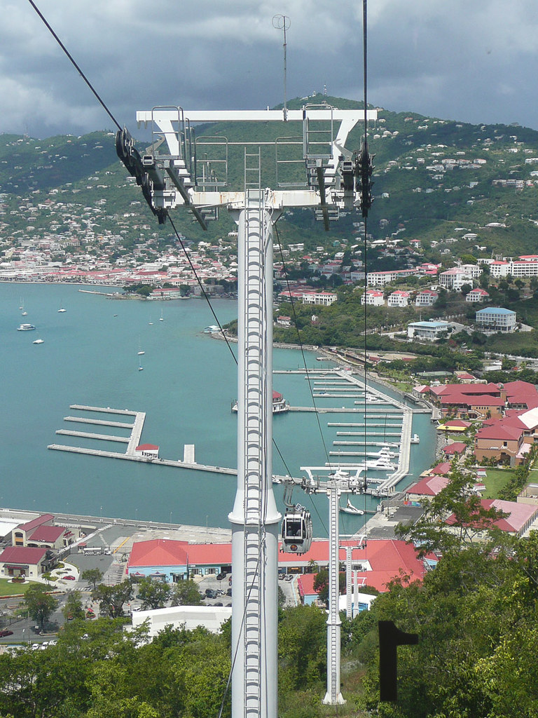 Views from Paradise Point in St. Thomas