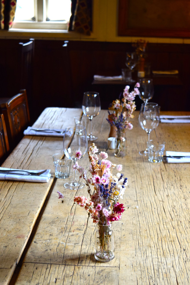 Table Setting at The Compasses Inn, Crundale