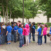 Student Sophia Zaner gives a welcome tour to a group of first-graders from Collins Parr Elementary School in San Diego, Texas.