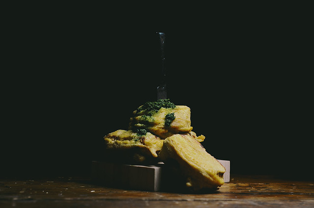 chickpea battered green chutney and mozzarella sandwiches | A Brown Table