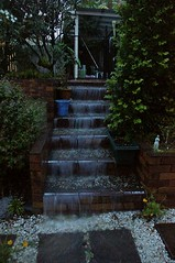 Waterfall on the stairs in my garden