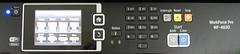 Epson WF-4630 Control Panel