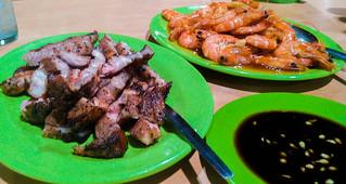 Liempo and Shrimp