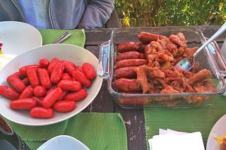 Pinoy Breakfast in the City - Hotdog Tocino Longaniza