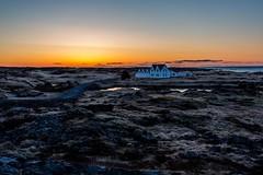 Sunset at Straumur Iceland