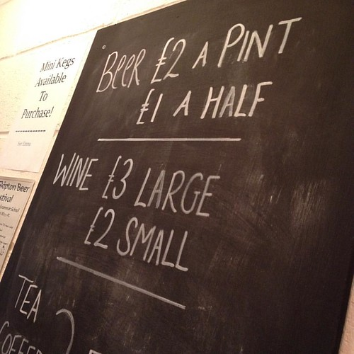Someone from #London was mega impressed by our brewery bar prices, it's good that we bring people into #Keighley :-)