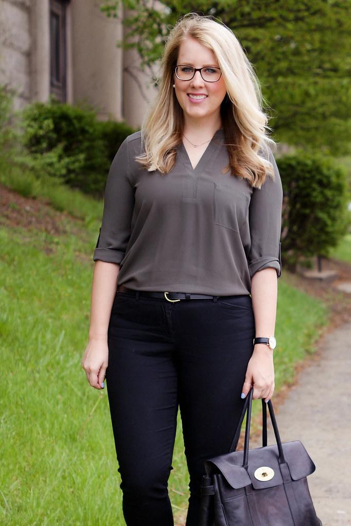 Lush 'Perfect' Roll Tab Sleeve Tunic