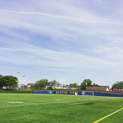Back at Drexel for this alumni #rugby match. We never had a field like this, looking forward to a lovely day of stomping some young punks.
