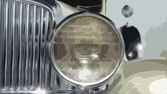 A13190 / 1933 Duesenberg detail, cutout