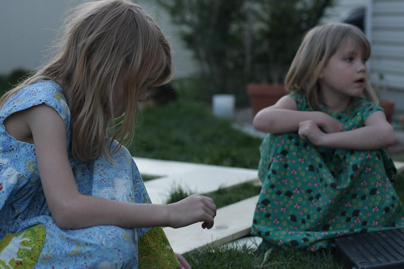 evening garden work
