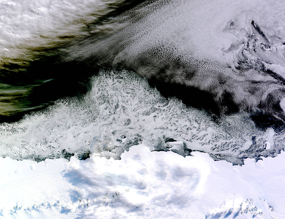 Sea Ice Off East Antarctica's Princess Astrid Coast