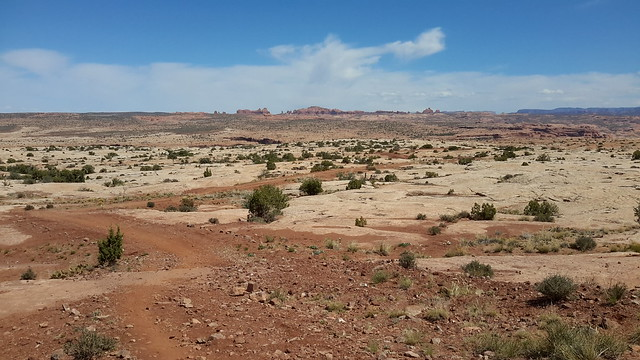 Circle O Trail leading out to Arches NP