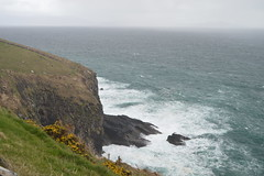 The Atlantic Ocean Crashes against the Cliffs