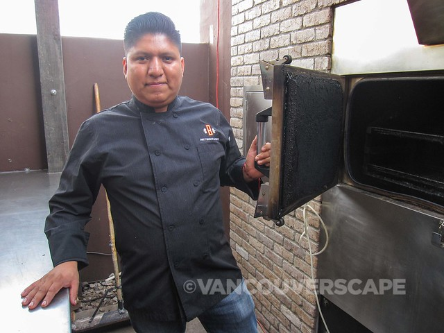 Chef Fidencio at the smoker