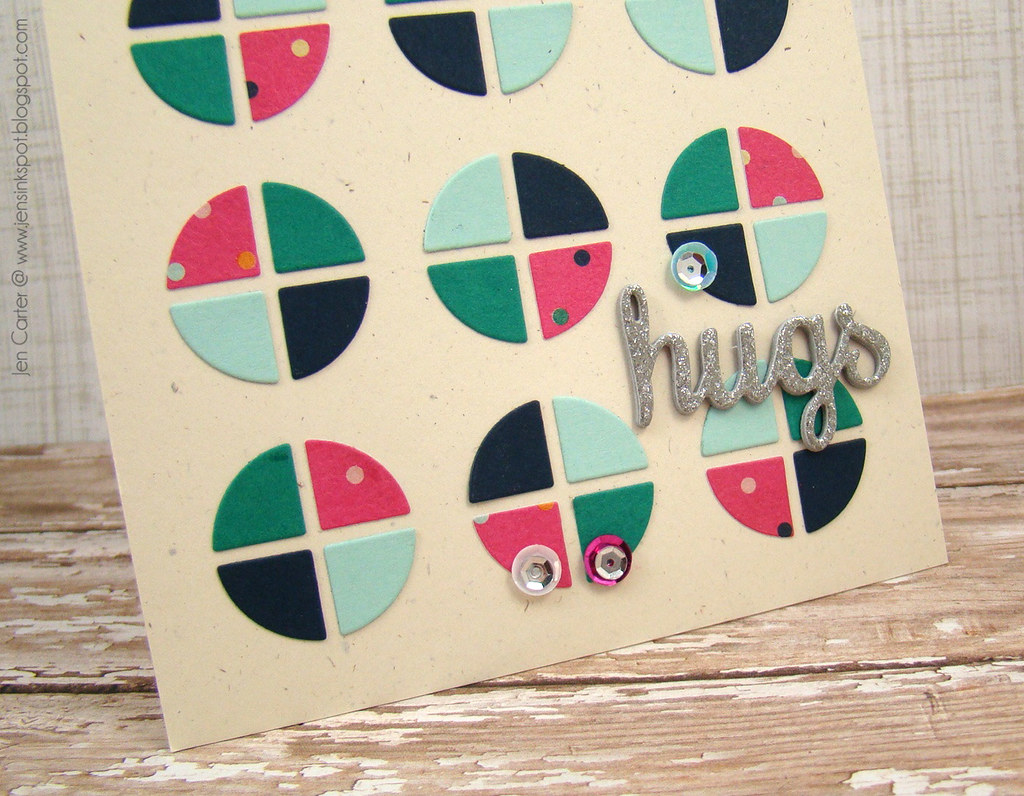 Jen Carter Frantic Stamper Circle Hugs Closeup