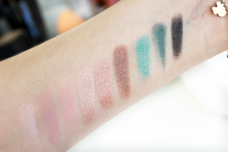Swatches Lancome My French Palette