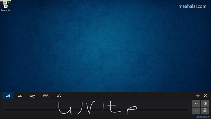 Windows 10 touch keyboard