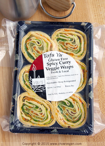Tofu Yu Gluten Free Spicy Curry Veggie Wraps