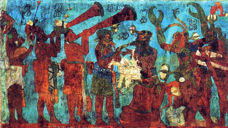 Mural paintings of Maya